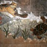 This is a portion of a tile mural that I made for my son David's bathroom. Priceless!